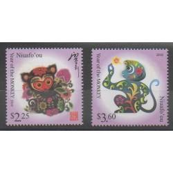 Tonga - Niuafo'ou - 2015 - No 402/403 - Horoscope