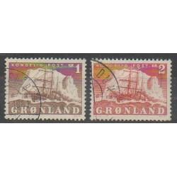 Groenland - 1950 - No 25/26 - Navigation - Oblitéré