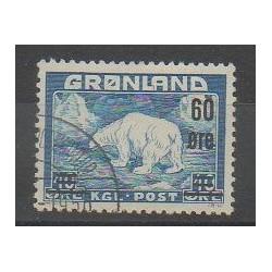 Groenland - 1956 - No 28 - Mammifères - Polaire - Oblitéré