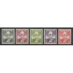 Groenland - 1938 - No 1/5 - Royauté - Principauté