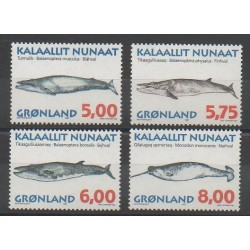 Greenland - 1997 - Nb 284/287 - Mamals - Sea animals