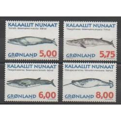 Greenland - 1997 - Nb 284/287 - Mamals - Sea animals