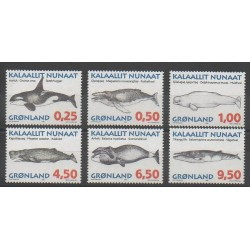 Greenland - 1996 - Nb 266/271 - Mamals - Sea animals
