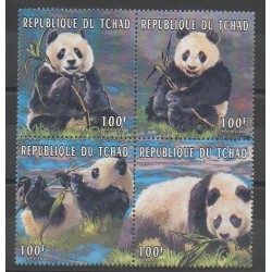 Tchad - 1996 - No 625/628 - Mammifères