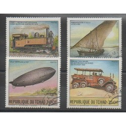 Chad - 1984 - Nb 450/453 - Hot-air balloons - Airships - Transport - Used