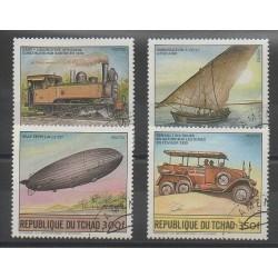 Tchad - 1984 - No 450/453 - Ballons - Dirigeables - Transports - Oblitéré
