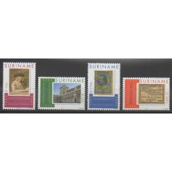 Suriname - 2003 - Nb 1671/1674 - Stamps on stamps - Coins, Banknotes Or Medals