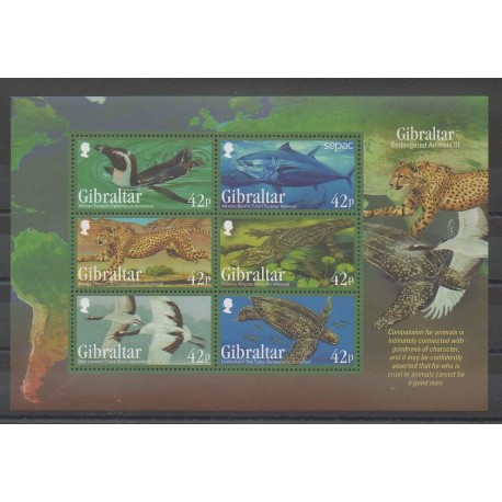 Gibraltar - 2013 - No F1569 - Reptiles - Animaux - Espèces menacées - WWF