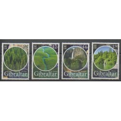 Gibraltar - 2011 - No 1421/1424 - Arbres - Sites - Europa