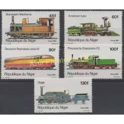 Niger - 1980 - No 510/514 - Trains