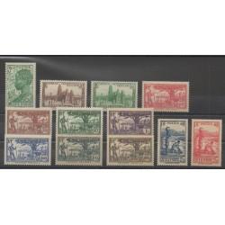 Côte d'Ivoire - 1939 - No 151/161 - Neuf avec charnière