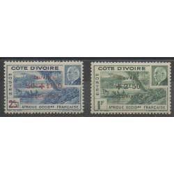 Côte d'Ivoire - 1944 - No 175/176