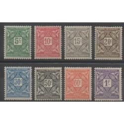 Côte d'Ivoire - 1915 - No T9/T16 - Neuf avec charnière