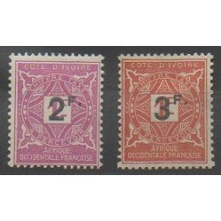 Ivory Coast - 1927 - Nb T17/T18 - Mint hinged