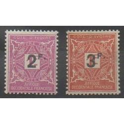 Côte d'Ivoire - 1927 - No T17/T18 - Neuf avec charnière