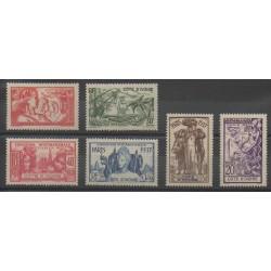 Côte d'Ivoire - 1937 - No 133/138 - Neuf avec charnière