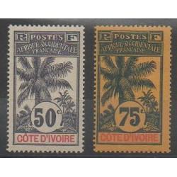 Côte d'Ivoire - 1906 - No 31/32 - Neuf avec charnière