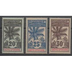 Côte d'Ivoire - 1906 - No 26/28 - Neuf avec charnière