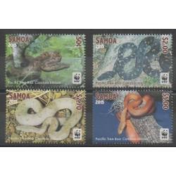 Samoa - 2015 - No 1150/1153 - Reptiles - Espèces menacées - WWF