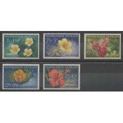 Antilles néerlandaises - 1955 - No 236/240 - Fleurs