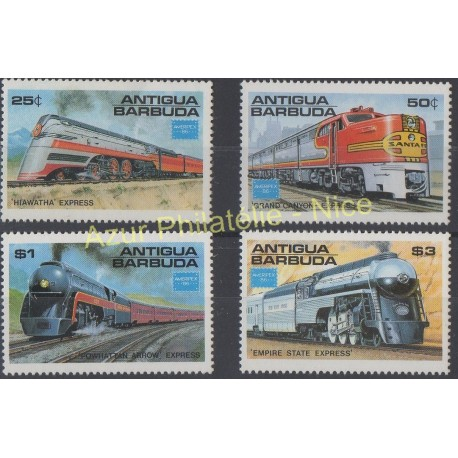 Antigua et Barbuda - 1986 - No 912/915 - Trains