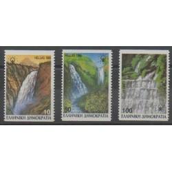 Grèce - 1988 - No 1675a/1677a - Sites - Environnement