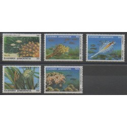 Grèce - 1988 - No 1660/1664 - Animaux marins
