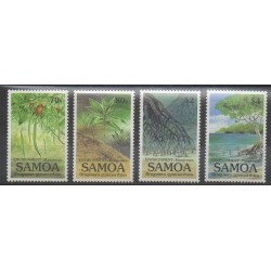 Samoa - 1998 - Nb 866/869 - Environment - Trees