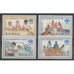 Samoa - 1996 - No 848/851 - Enfance - Santé ou Croix-Rouge