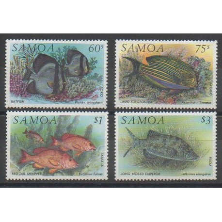 Samoa - 1993 - Nb 755/758 - Sea animals