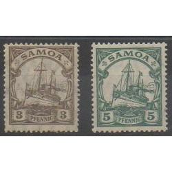 Samoa - 1914 - No 55/56 - Neuf avec charnière