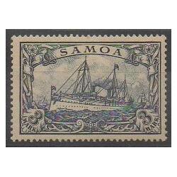 Samoa - 1900 - No 53 - Navigation - Neuf avec charnière