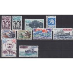 Timbres - Terres Australes et Antarctiques Françaises - Année complète - 1980 - No 86/91 et PA61/PA64