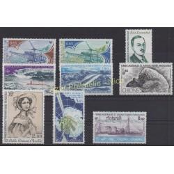 Timbres - Terres Australes et Antarctiques Françaises - Année complète - 1981 - No 92/94 et PA65/PA70