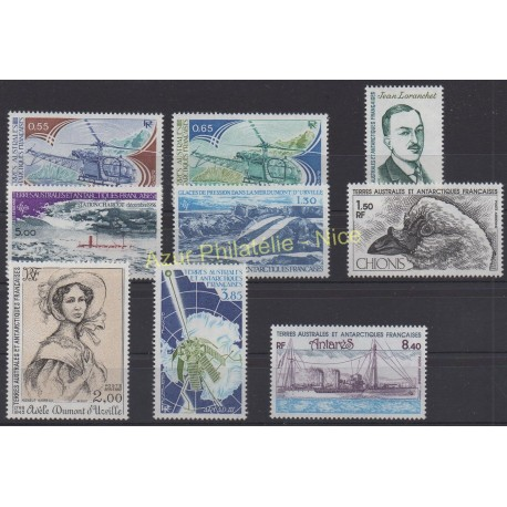 Stamps - French Southern and Antarctic Territories - Complete year - 1981 - Nb 92/94 et PA65/PA70