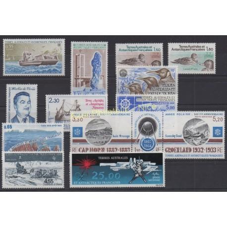 Timbres - Terres Australes et Antarctiques Françaises - Année complète - 1982 - No 95/100 et PA71/78