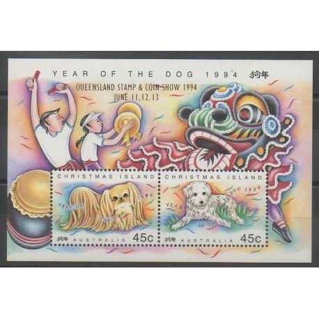 Christmas (Island) - 1994 - Nb BF15 - Dogs - Exhibition
