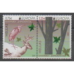 Grèce - 2011 - No 2575/2576 - Arbres - Oiseaux - Europa