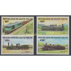 Haute-Volta - 1984 - No 624/627 - Trains