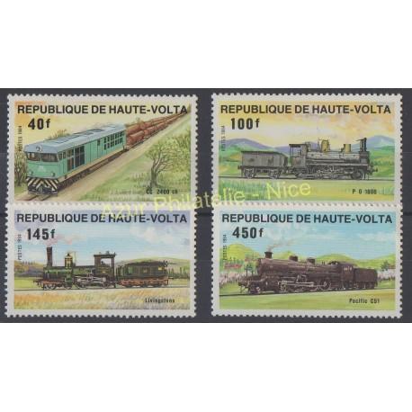 Haute-Volta - 1984 - No 624/627 - Trains
