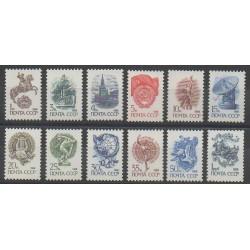 Russia - 1988 - Nb 5578a/5589a