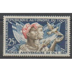 Togo - 1957 - Nb PA24 - Various Historics Themes