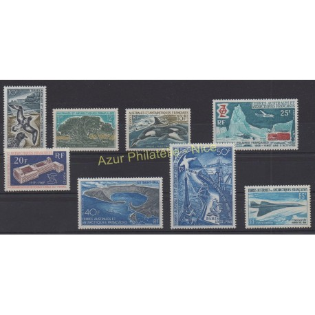 Stamps - French Southern and Antarctic Territories - Complete year - 1969 - Nb 28/32 et PA17/PA19