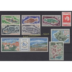 Stamps - French Southern and Antarctic Territories - Complete year - 1971 - Nb 34/39 et PA23/PA26