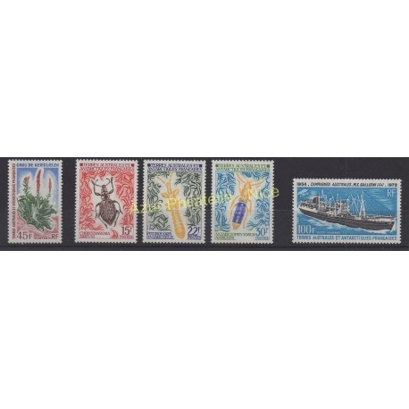 Stamps - French Southern and Antarctic Territories - Complete year - 1973 - Nb 48/51 et PA29