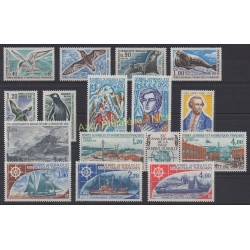 Stamps - French Southern and Antarctic Territories - Complete year - 1976 - Nb 55/63 et PA42/PA47