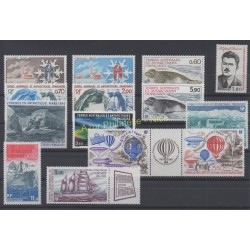 Stamps - French Southern and Antarctic Territories - Complete year - 1984 - Nb 102/108 et PA79/PA85