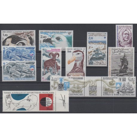 Stamps - French Southern and Antarctic Territories - Complete year - 1985 - Nb 109/114 et PA86/PA91