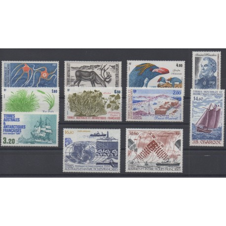 Stamps - French Southern and Antarctic Territories - Complete year - 1987 - Nb 122/129 et PA97/PA99