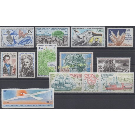 Stamps - French Southern and Antarctic Territories - Complete year - 1990 - Nb 148/154 et PA110/PA114